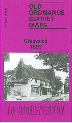Old Ordnance Survey Map Chiswick 1893 King Street West Hammersmith Turnham Green
