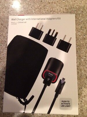 New Verizon Wall Charger With International Adapters Kit