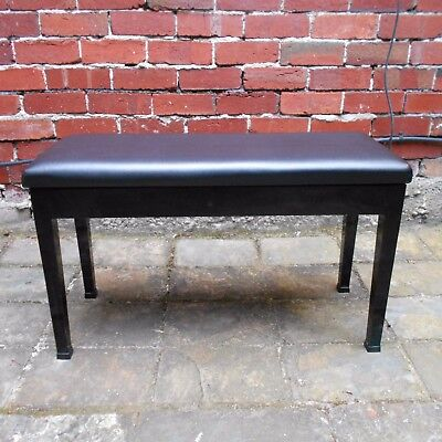 Extra Wide Duet Piano Keyboard Stool Bench with Storage Compartment Black