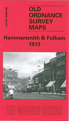 Old Ordnance Survey Map Hammersmith & Fulham 1913