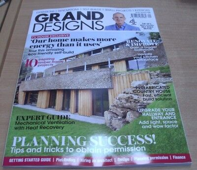 Grand Designs magazine Jan 2018 Planning Success tips + Timber-frame projects