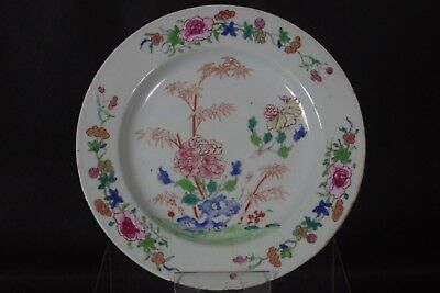 Beautiful Antique 18thC Chinese Hand-painted Plate