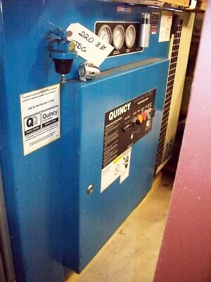 #9897: Quincy 15 HP Rotary Screw Air Compressor