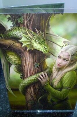 Kindred spirits greetings card by anne stokes dragon fantasy tree anne stokes greetings card with envelope kindred spirits princess dragon m4hsunfo