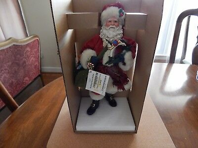 """11"""" tall Santa Claus  Rocking Horse wishes, new Clothique brand decor"""
