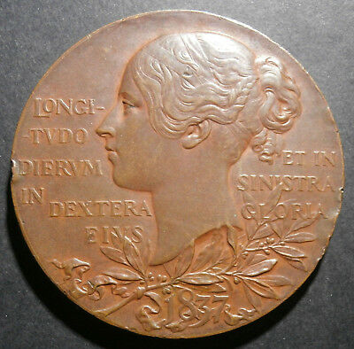 Diamond jubilee medallion 1897 - Official 60th year medal E#1817a - bronze 56mm