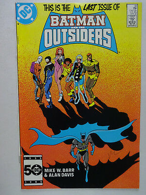 Batman and the Outsiders #32   Mike Barr   Alan Davis   Last Issue
