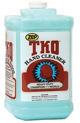 ZEP R54824 TKO Heavy Duty Hand Cleaner, Lemon-Lime, Blue/Green, 1 Gal, 4-Pack