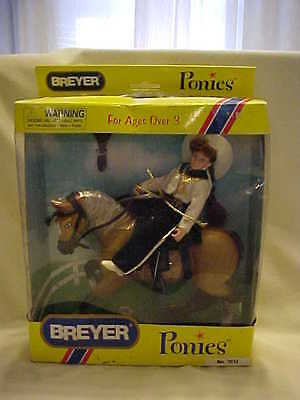 Breyer Ponies and Rider Set Model #7012 new in box