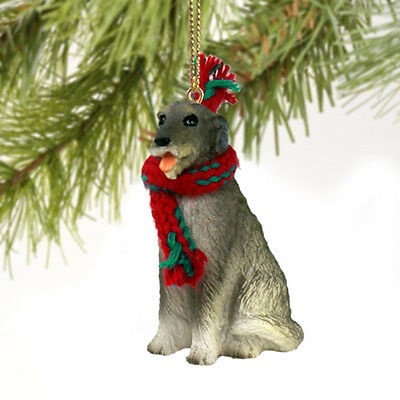 Irish Wolfhound Dog Tiny One Miniature Christmas Holiday ORNAMENT