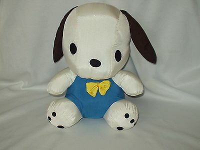 "POCHACCO vintage 14"" nylon stuffed SANRIO Puppy DOG character toy 1979, 1993 GUC"