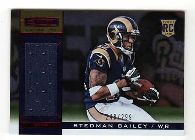 Stedman Bailey Nfl 2013 Rookies And Stars Longevity Ruby (Jersey) #/299 Rams