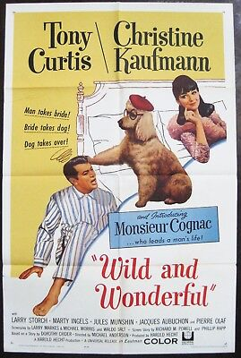 Wild And Wonderful 1964 Tony Curtis Christine Kaufmann Original US Poster
