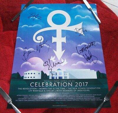 THE REVOLUTION 2017 1st year Celebration Paisley Park Prince SIGNED BAND POSTER