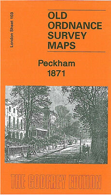 Old Ordnance Survey Map Peckham 1871