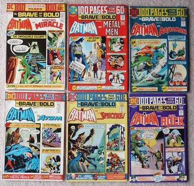 LOT (6) ~ BRAVE AND THE BOLD ~ 100 pp GIANTS ~ No. # 112 113 114 115 116 117 VF