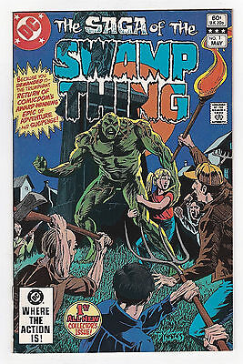 The Saga of the Swamp Thing 1 VF+ 1982 2nd Series DC Comics Book b)