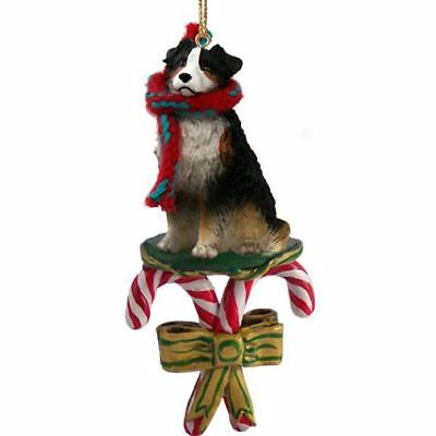 Australian Shepherd Tricolor Dog Candy Cane Christmas Tree ORNAMENT