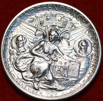 Uncirculated 1934 Texas Silver Comm Half Dollar Free S/H