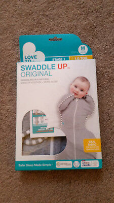 Love to Dream Swaddle UP Stage 1 Swaddling Gray Size M, 1 TOG Trans Fabric