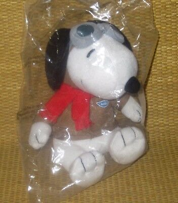 "SNOOPY Flying Ace | *NEW* Red Baron PLUSH Pilot Toy MetLife 2015 PEANUTS 5"" Dog"