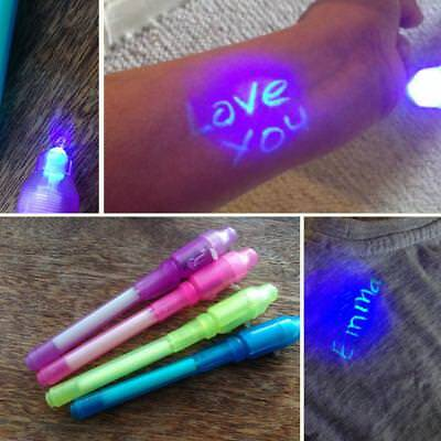UV Light Pen Invisible Ink Secret Marker Pen With Ultra Violet LED Blacklight