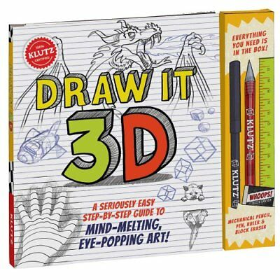 Draw It 3-D by Editors of Klutz 9781338037487 (Mixed media product, 2016)