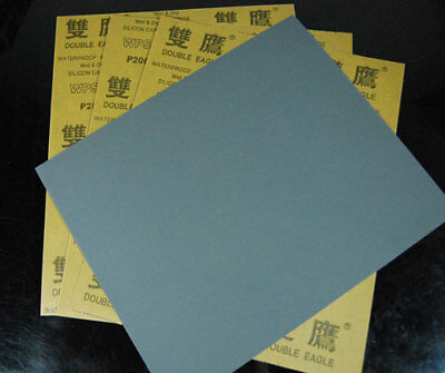 "10 sheets Sandpaper 2000 Grit 9"" x 11"" Wet Dry Sand Paper"