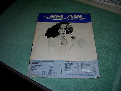Vtg Bel-Air Camera, Hi-Fi, Audio, Stereo, Radio Catalog 1979 Los Angeles Ca