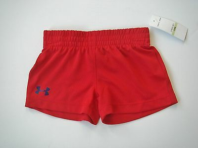 NWT Unisex Baby UNDER ARMOUR 3/6mo Red Mesh Shorts