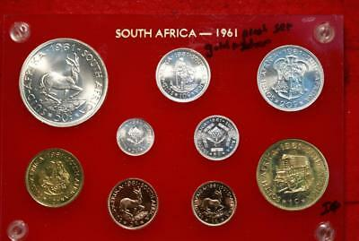 Uncirculated 1961 South Africa Proof Set Gold & Silver Free S/H