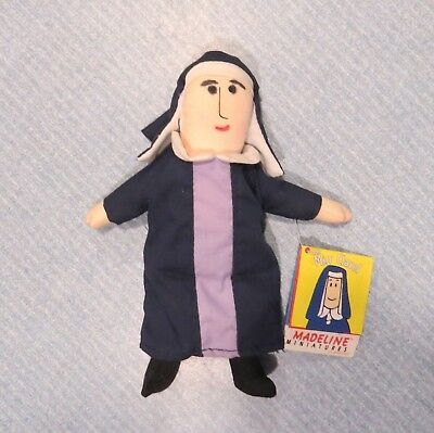 """7"""" MADELLINE MINIATURES Miss Clavel Cloth Nun Doll (C) 1998 EDEN with hang tag"""