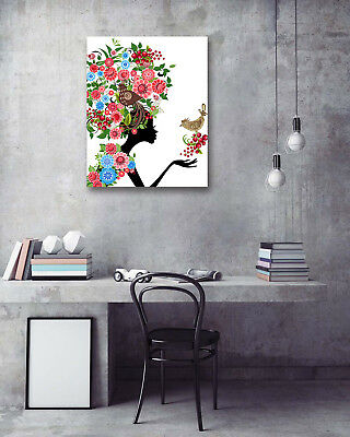 Wall Art Poster-Butterfly Beauty Bird Prints Room Decor Canvas Painting 16x20""