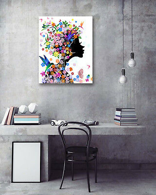"""Wall Art Poster-Butterfly Spring Girl Prints Room Decor Canvas Painting 16x20"""""""