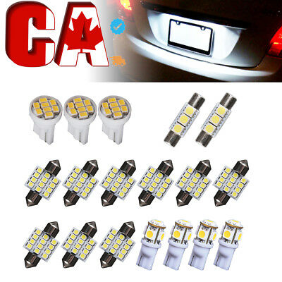 20x T10 Wedge High Power Projector Backup Light Reverse LED Bulbs White