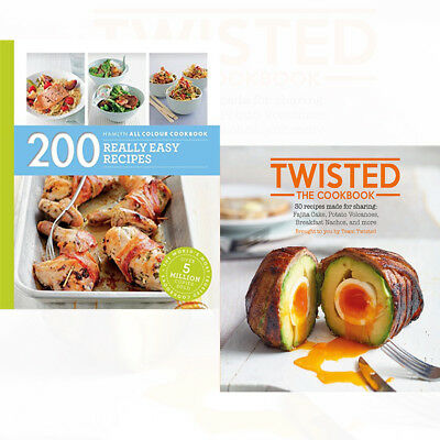 Twisted The Cookbook 2 Books Collection Set 200 Really Easy Recipes NEW Pack