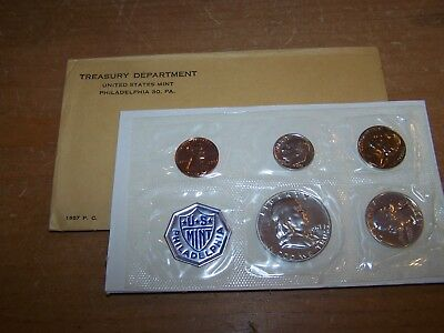 1957-P U.s. Mint Proof Set Still In Original Envelope