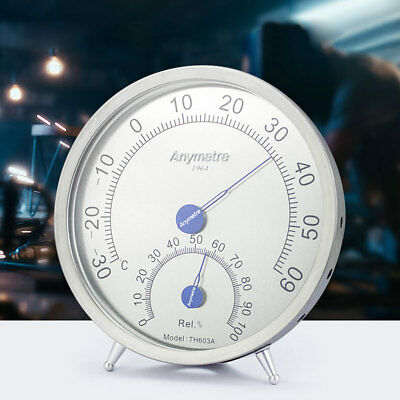 Wall Mounted Thermometer Hygrometer Stainless Steel Temperature Humidity Meter
