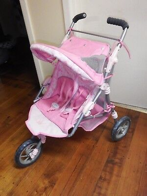 Lovely Baby Born Twin  Dolls Pram     Good Condition