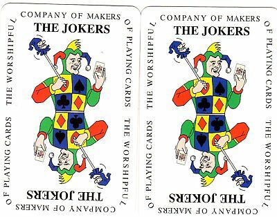 "Pair of RARE MINT ""Worshipful"" JOKER Playing Cards #724"