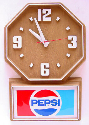 1986 PEPSI ELECTRIC CLOCK SIGN by IMPACT INTERNATIONAL WORKS!