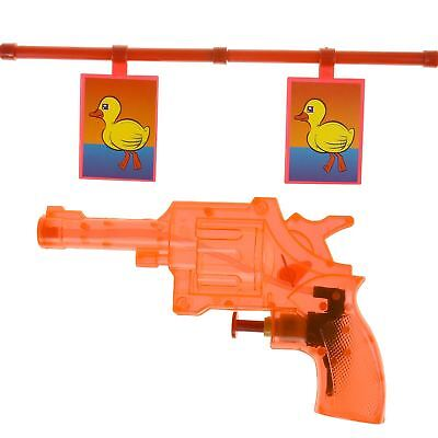 Novelty Duck Shoot Out Plastic Toy Bath Time Fairground Water Gun Target Game