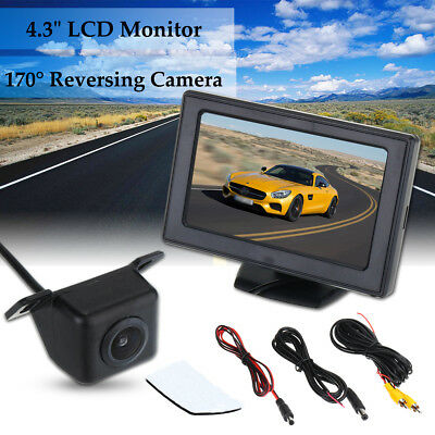 4.3'' TFT LCD Car Rear View Monitor & Night Vision Backup Reverse Camera 170°