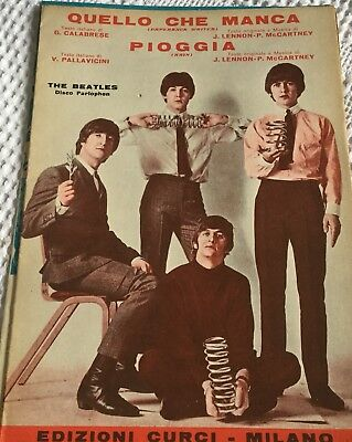 The Beatles Spartito Quello Che Manca (Paperback Writer)/pioggia(Rain)