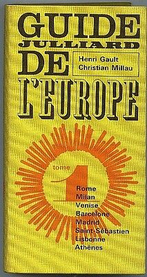 *** Guide Julliard de l'Europe Tome I ** 1964