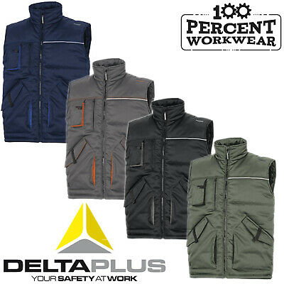 Delta Plus STOCKTON2 Padded Bodywarmer Gilet Multiple Pockets Polycotton Work