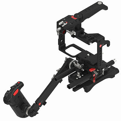 JTZ DP30 Camera Cage Baseplate Rig Hand Grip Kit For Panasonic LUMIX GH5/GH4/GH3