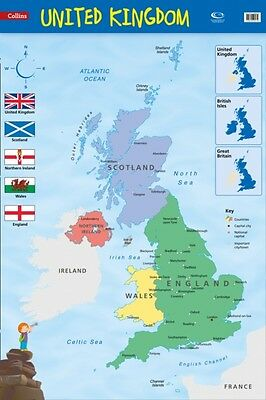 United Kingdom: Wall Map (Collins Primary Atlases) (Map), Collins...