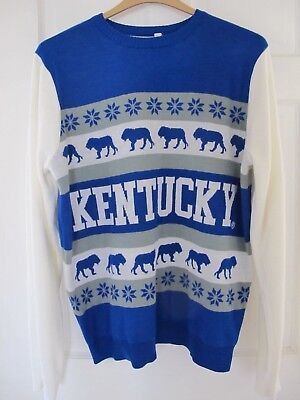 Mens Vintage Kentucky Wildcats Sweater Size XL Nice! Xmas Present NCAA Official