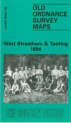 Old Ordnance Survey Map West Streatham Tooting 1894 Graveney Streatham High Road